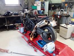 Groot onderhoud motorfiets
