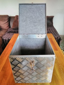 Aluminium topkoffer op maat