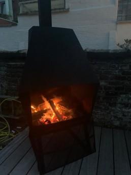 Ombouw Don-Bar houtvuur naar terraskachel-BBQ